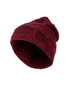 "Strick Beanie ""Red Pattern"""