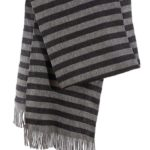 "Schal ""Strickschal Grey Stripes"""